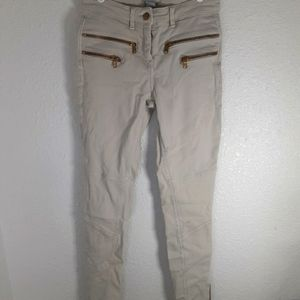 H&M Skinny Jean's with zippers. Size 2